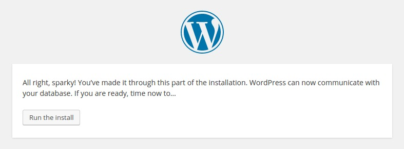WordPress Setup Configuration File 3